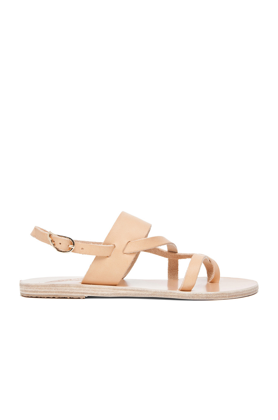 Ancient Greek Sandals Alethea Calfskin Leather Sandals In Neutrals. In Natural