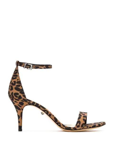 Schutz Cadey-lee Leopard Print Sandals In Multicolour