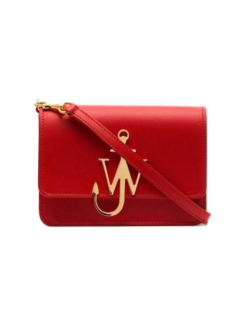 Jw Anderson Scarlet Anchor Logo Bag In 450 Scarlet