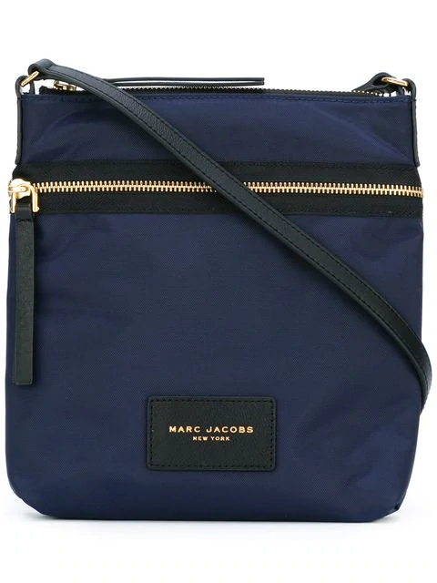 Marc Jacobs Biker North/south Nylon Crossbody In Midnight Blue
