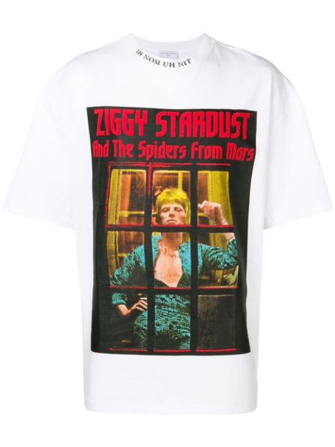 Ih Nom Uh Nit Ziggy Stardust Print T-shirt In White