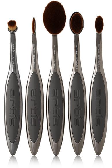 Status Elite Grey Birch Modern Italian Bedroom Set: Artis Brush Next Generation Elite Smoke 5 Brush Set