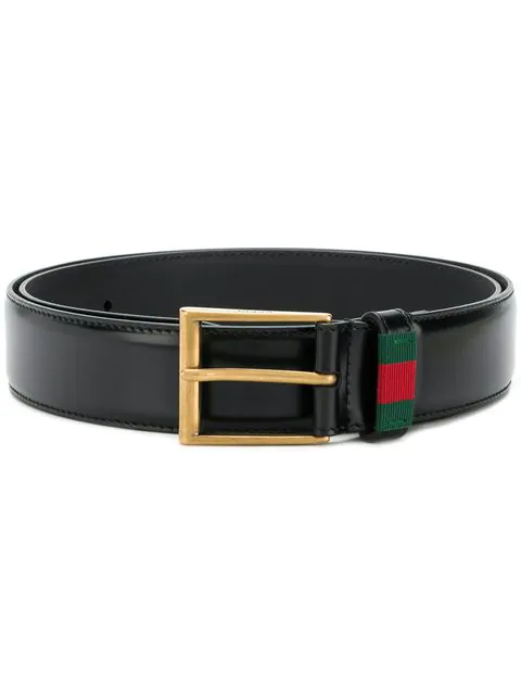 Gucci Web Belt - Farfetch In Black