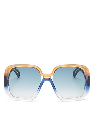 a8416520002a Givenchy Women's Oversized Square Sunglasses, 55Mm In Brown Blue/Blue