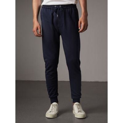 Burberry Cotton Sweatpants In Navy