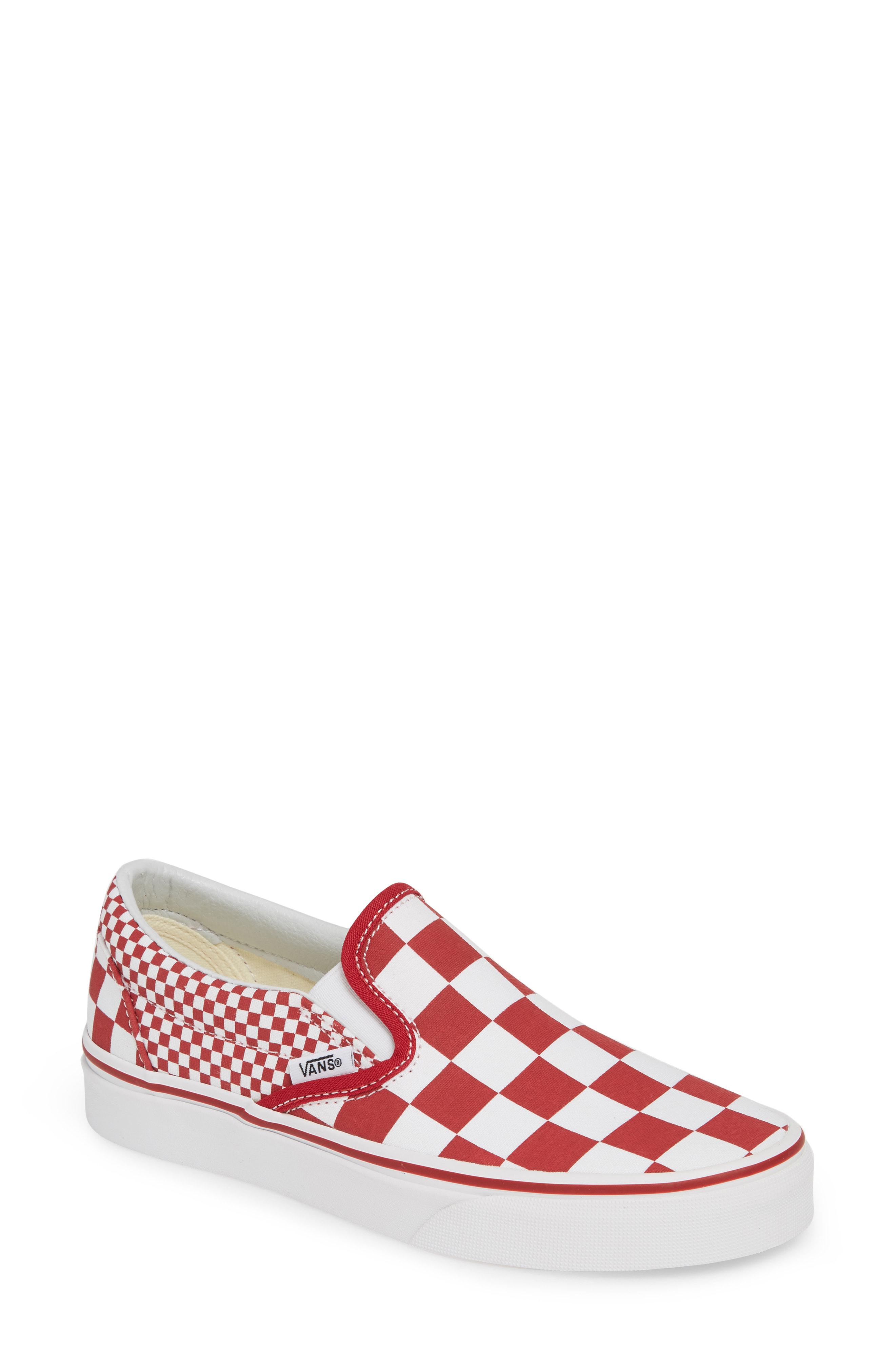 f998e648f355 Vans Classic Slip-On In Rainbow  True White Textile