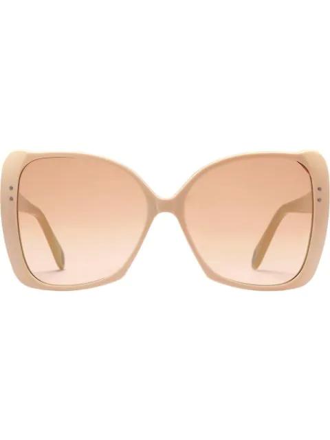 Gucci Oversize Square-Frame Sunglasses In Neutrals