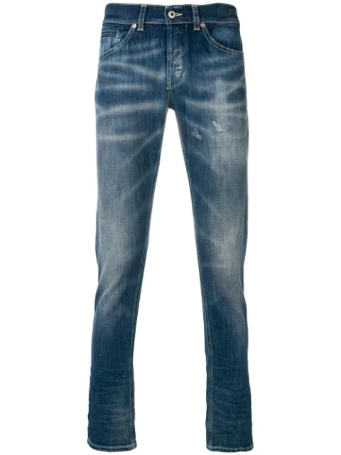 Dondup Bootcut Mid Rise Jeans In Blue