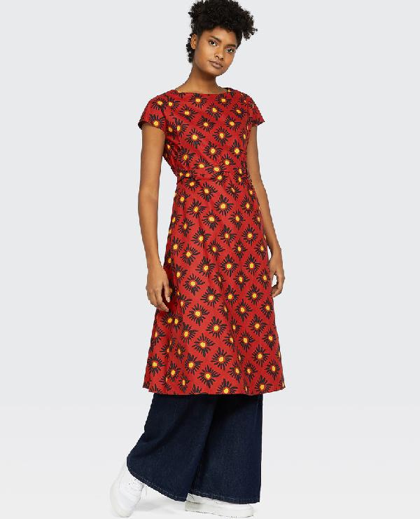 Aspesi Cotton Dress In Orange
