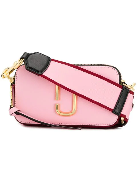 Marc Jacobs Snapshot Small Leather Crossbody Bag In 679 Pink