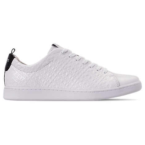 lacoste men's carnaby paris casual shoes in white size 12