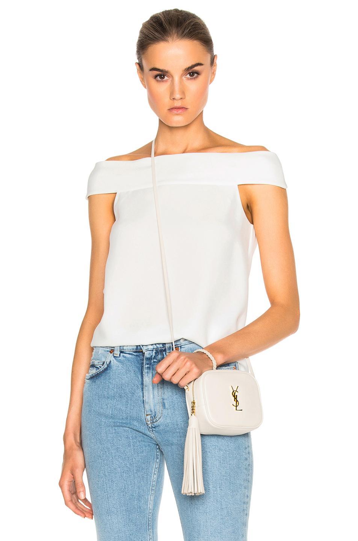 Tibi Off Shoulder Top In White
