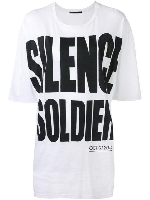 Haider Ackermann 'silence Soldier' Print Oversized T-shirt In White