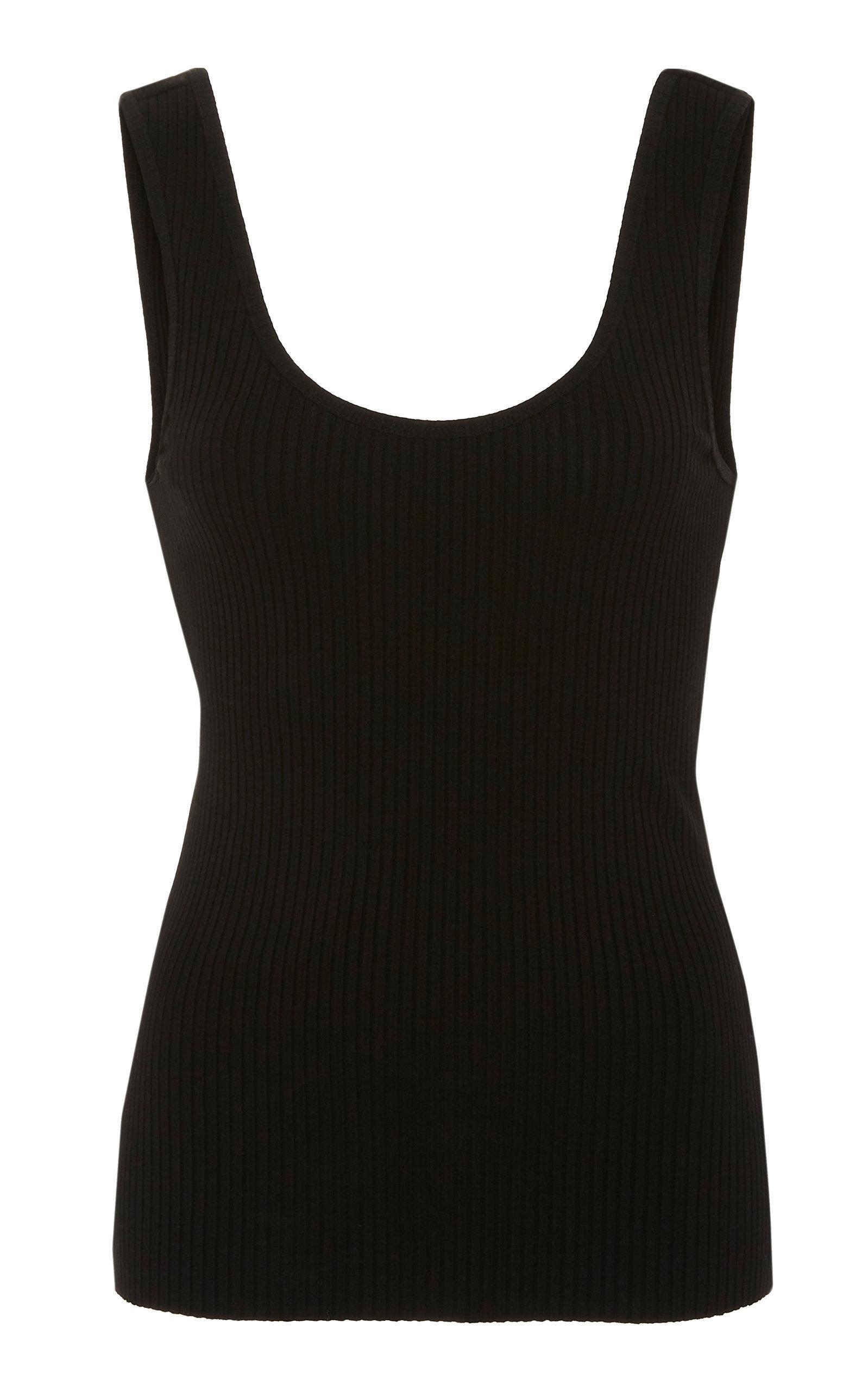 Nobody Denim Rib-Knit Tank Top In Black