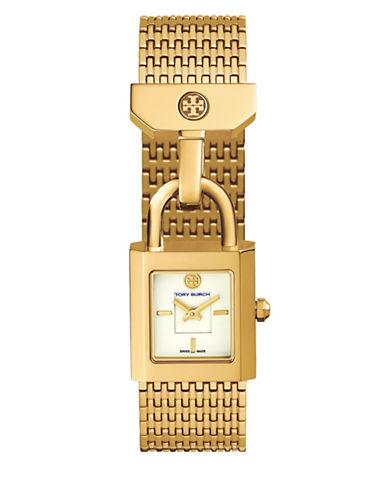 Tory Burch Surrey Padlock Multilink Bracelet Watch, Golden