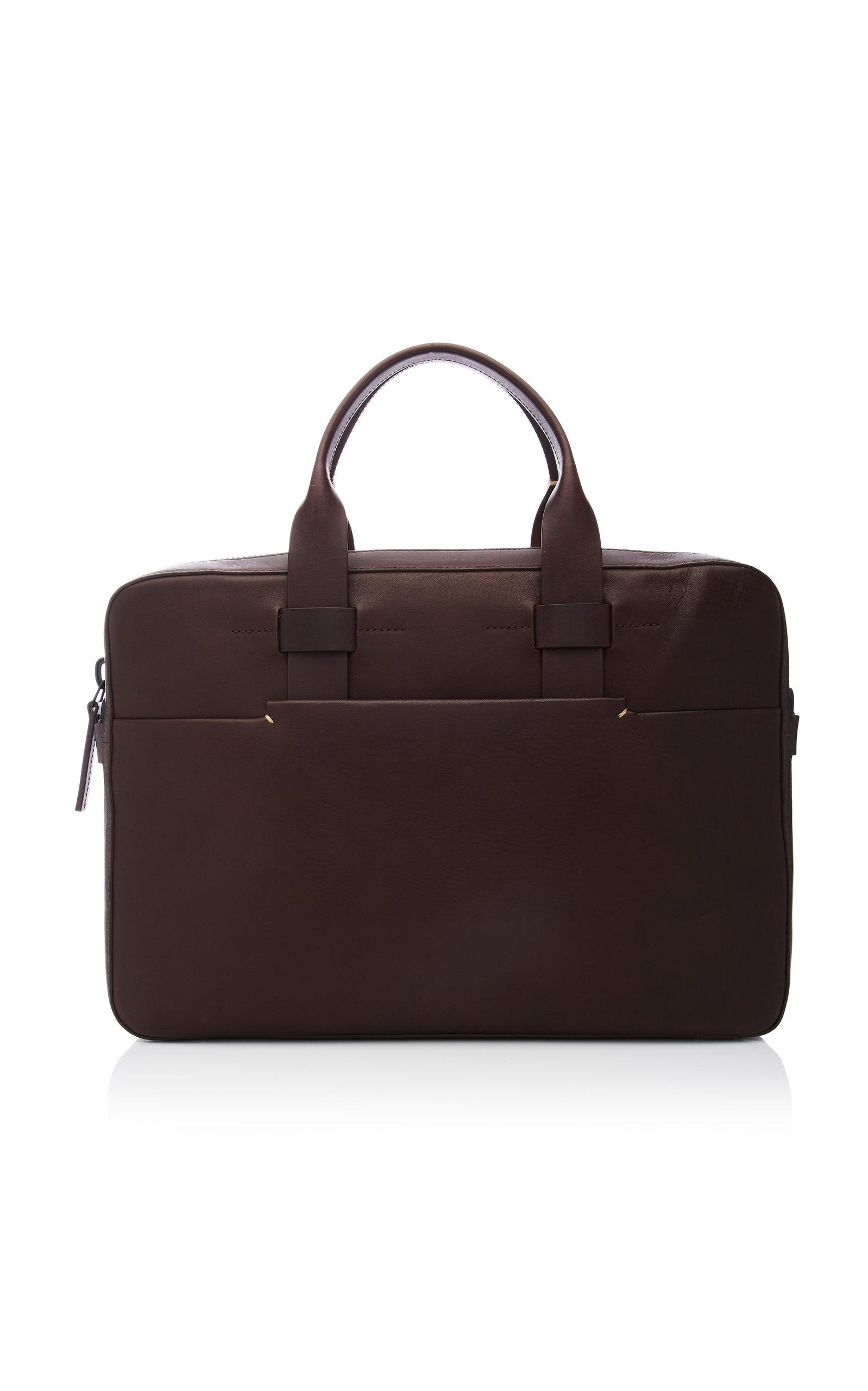 Troubadour Trailblazer Leather Briefcase In Brown