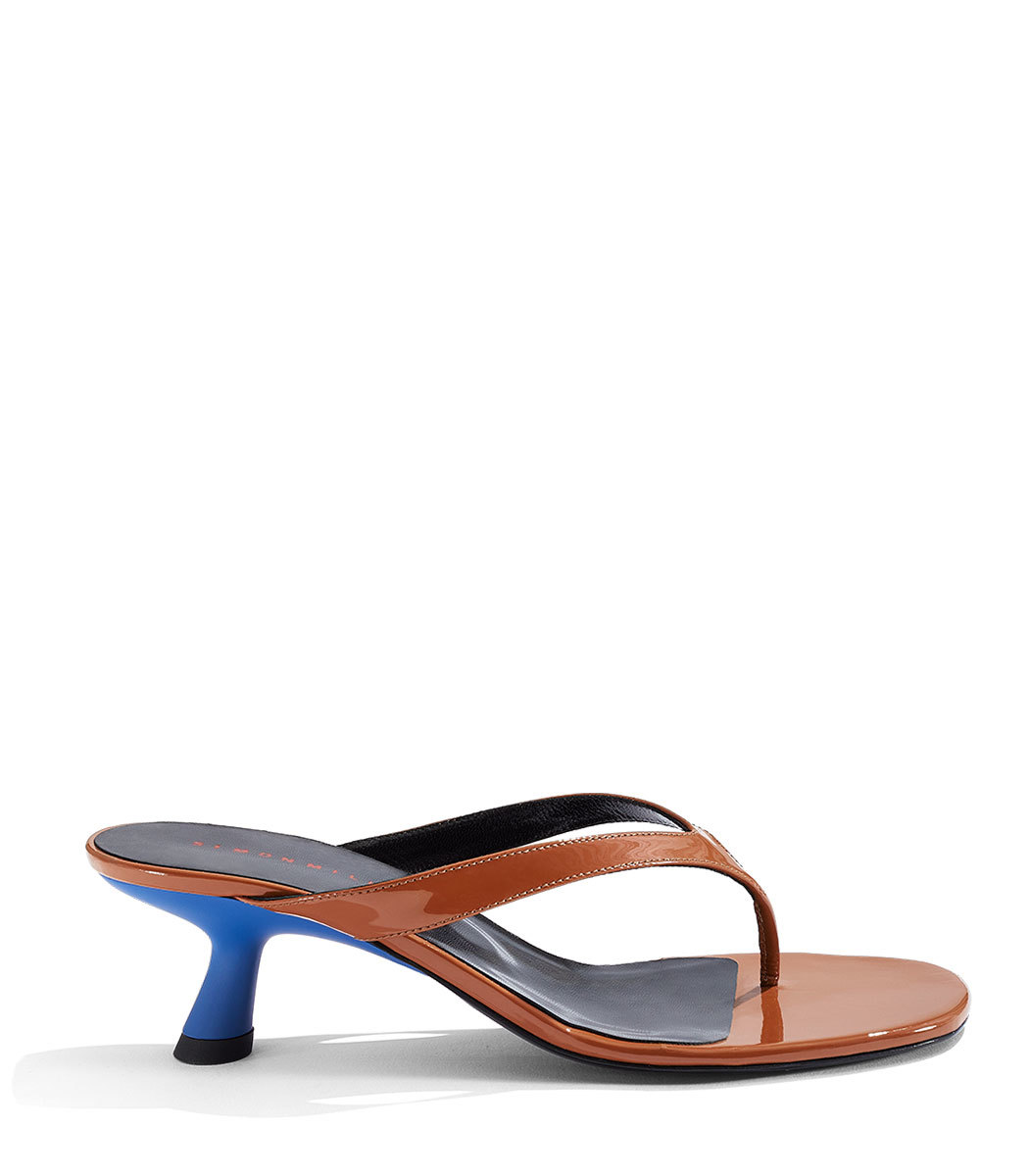 34199ad17 Simon Miller Beep Thong Sandals In Toffee