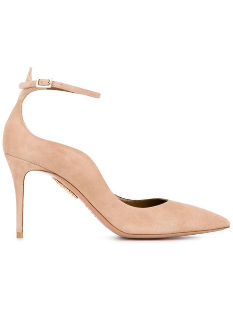 Aquazzura Suede Wavy Edge 'dolce Vita' Pumps In Neutrals