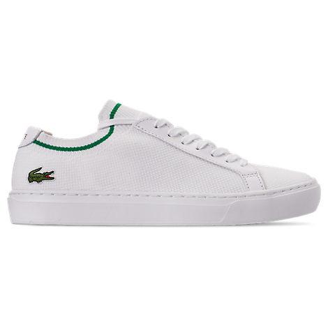lacoste men's le piqué knit casual shoes in white size 11