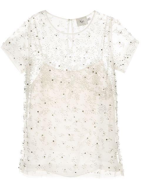 Aje Semi-Transparente Bluse - Weiß In White