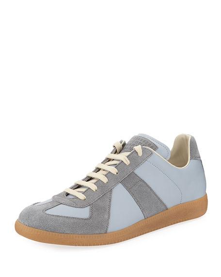 10fe0030c4d Men's Replica Suede & Leather Low-Top Sneakers in Light Blue