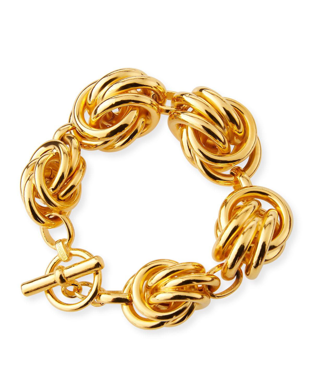 d801a7bb3 Jose & Maria Barrera Knot-Station Bracelet In Gold   ModeSens