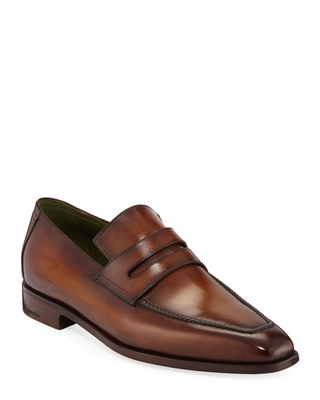 Berluti Men's Andy Leather Penny Loafers In Brown