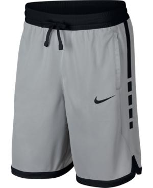Nike Men's Dri-Fit Elite Basketball Shorts In Grey/White