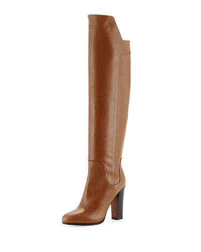 Vince Dempsey High Heel Over The Knee Boots In Rattan
