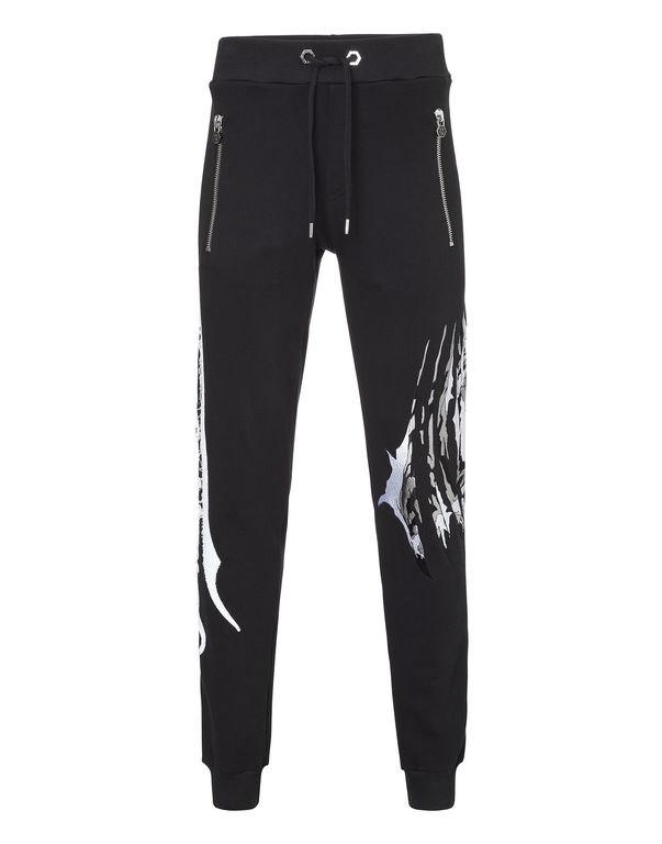 Philipp Plein Embroidered Logo And Tiger Sweatpants