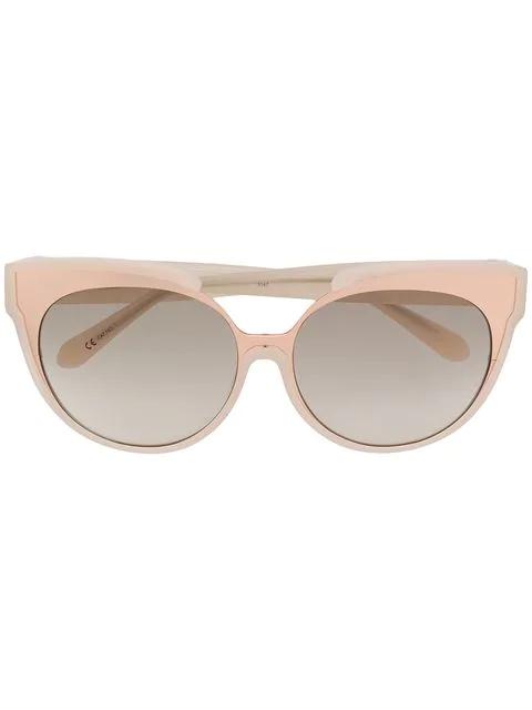 Linda Farrow Wayfarer Sunglasses In Neutrals