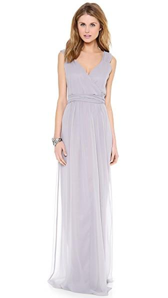 Joanna August Newbury Cap Sleeve Wrap Dress In Silver Bells