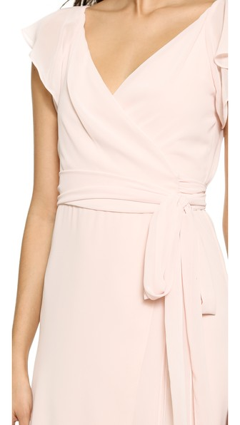 Joanna August Dorian Ruffle Sleeve Wrap Dress In Tiny Dancer