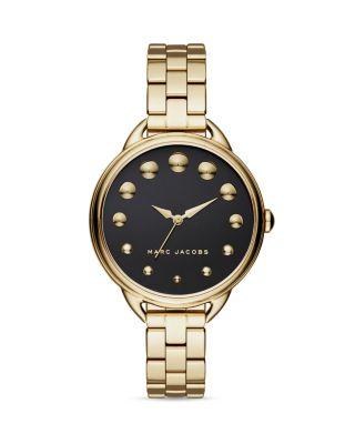 Marc Jacobs Betty Bracelet 36mm In Gold/black