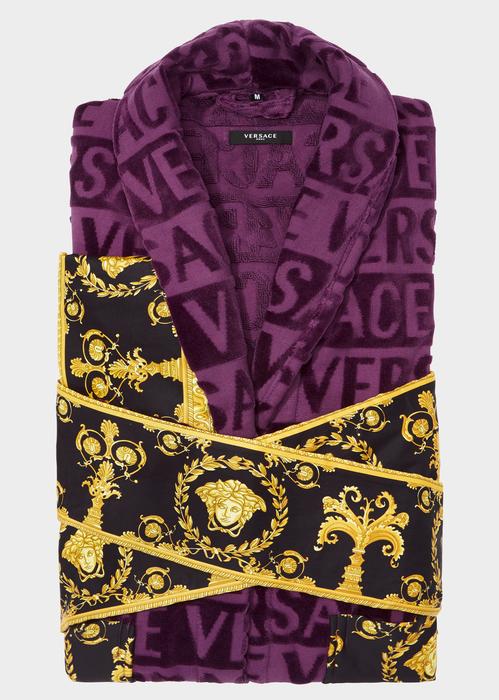 Versace I ♡  Baroque Bathrobe In Violet