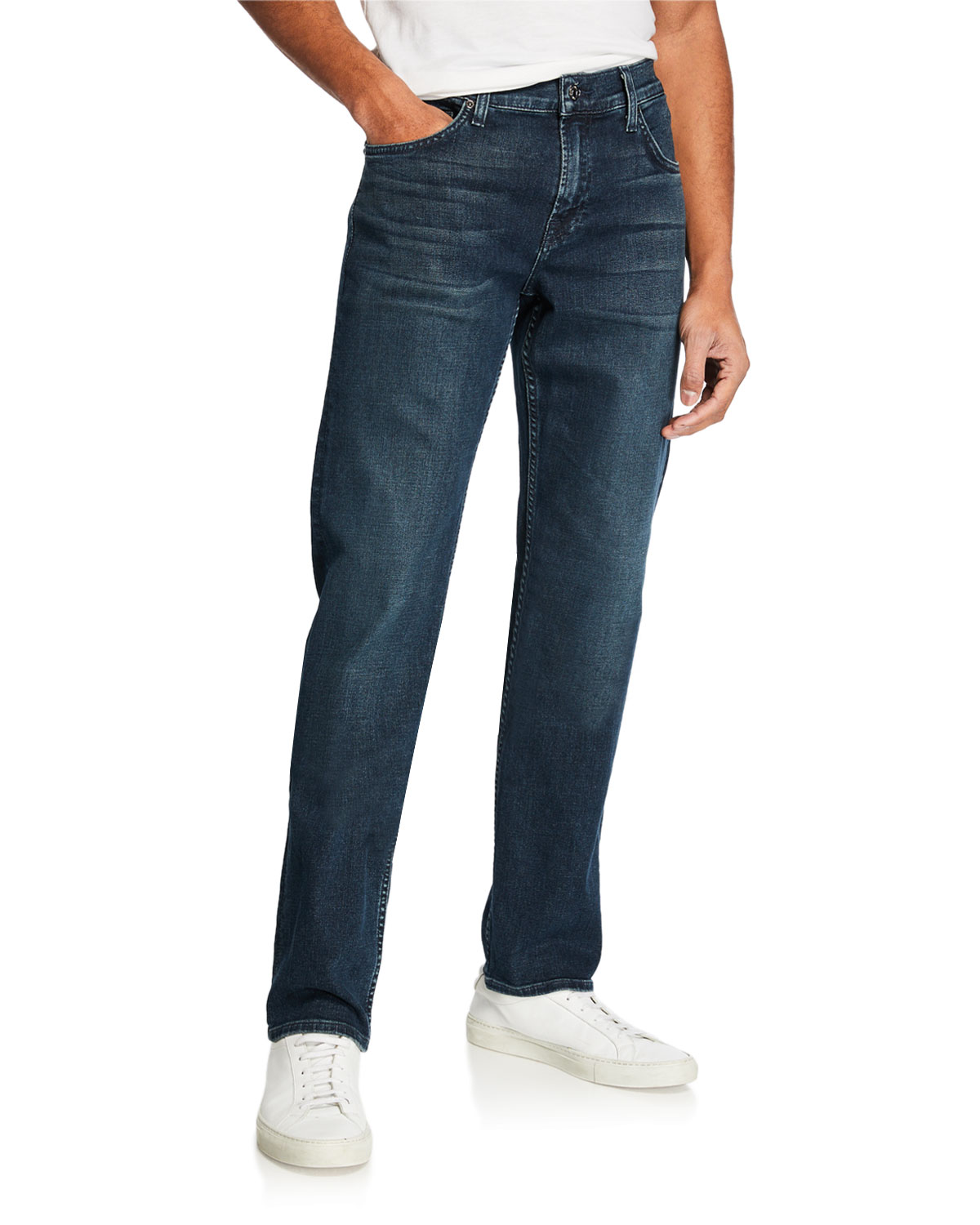 7 For All Mankind Men's Standard Straight-Fit Denim Jeans In Blue