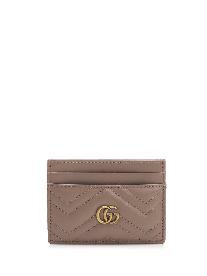3273a2187590 Gucci Gg Marmont Matelassé Cardholder In Beige | ModeSens