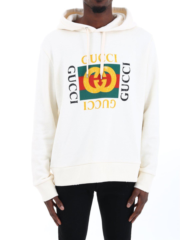 a4290a38e0 Gucci Logo Printed Sweatshirt In White. CETTIRE