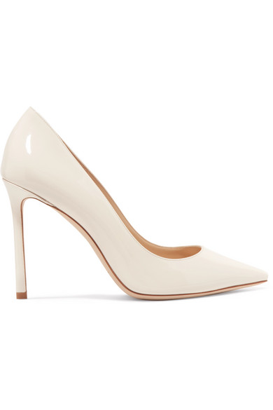761d56d518d9 Jimmy Choo Romy 100 Optic White Kid Leather Pointy Toe Pumps