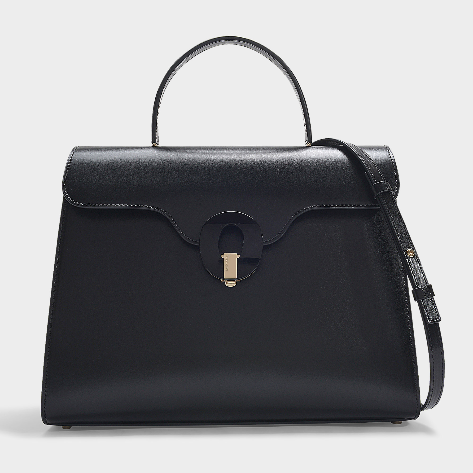 Giorgio Armani | Musa Top Handle Bag In Black Calfskin