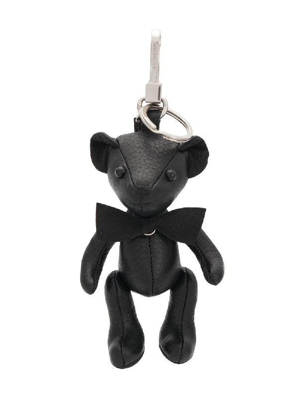 7675ed6d75f Burberry Thomas Solid Leather Bear Charm In Black