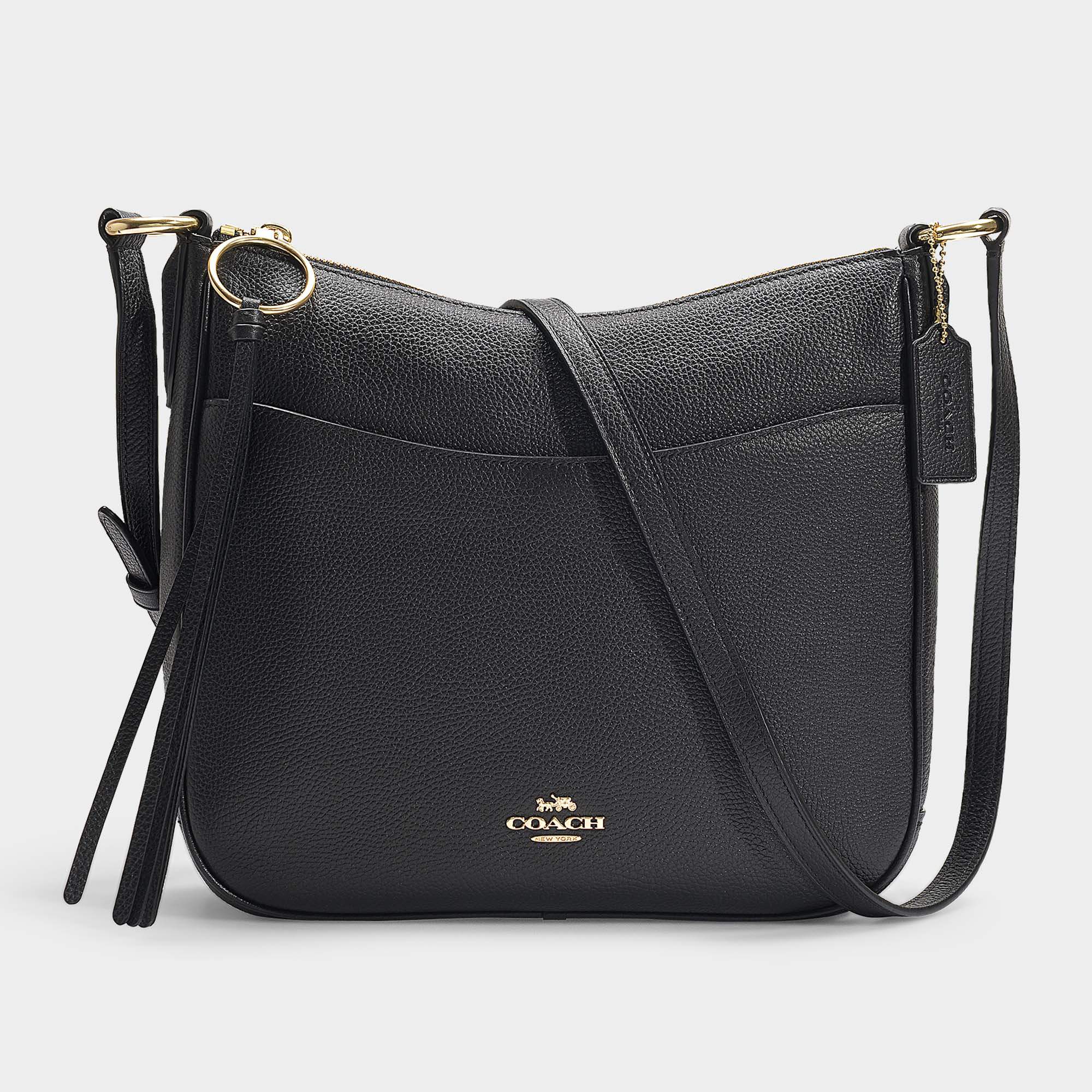 a4ff1cd07764aa Coach | Polished Pebble Leather Chaise Crossbody In Black | ModeSens
