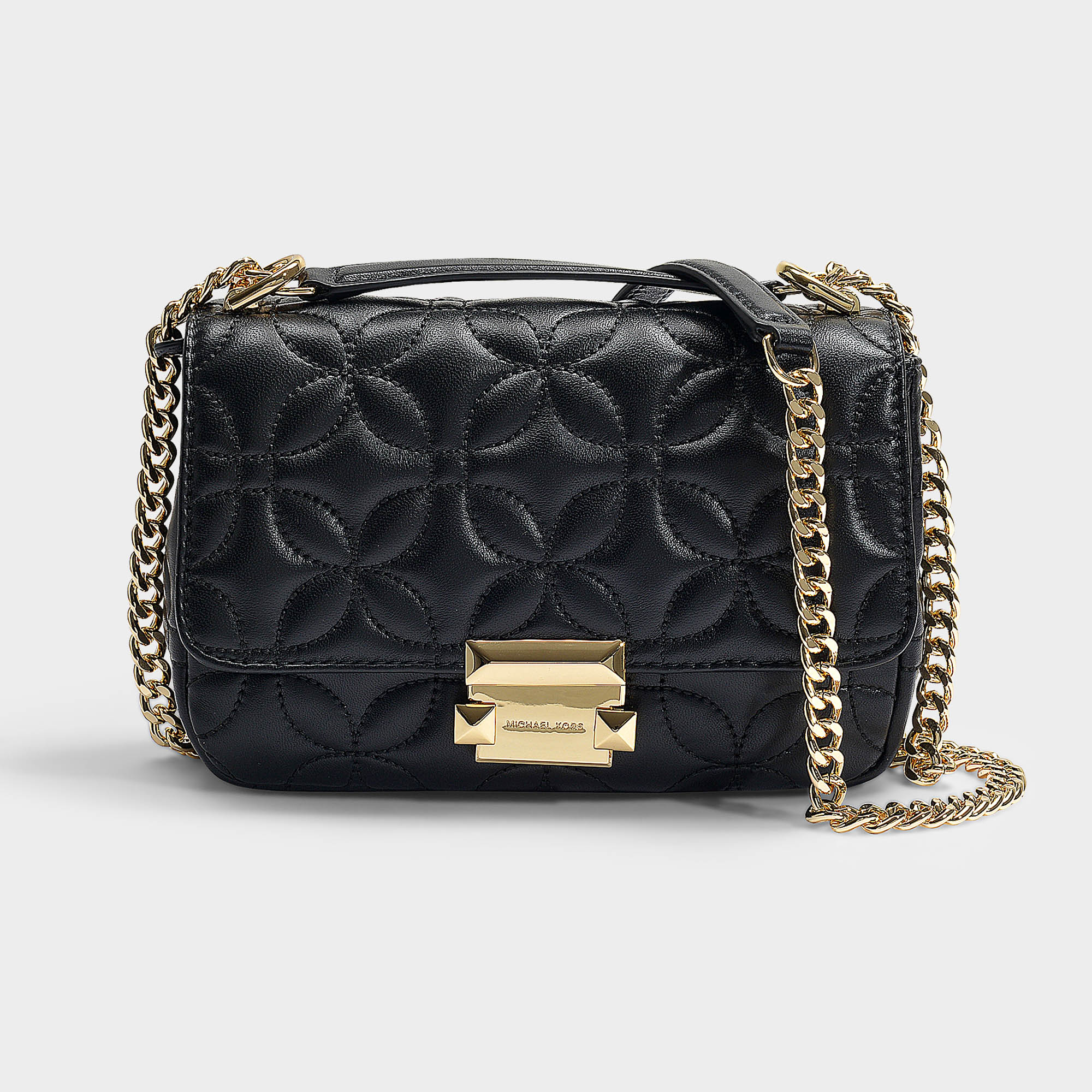 1af1d92db209 Michael Michael Kors | Sloan Small Chain Shoulder Bag In Black Quilted  Lambskin