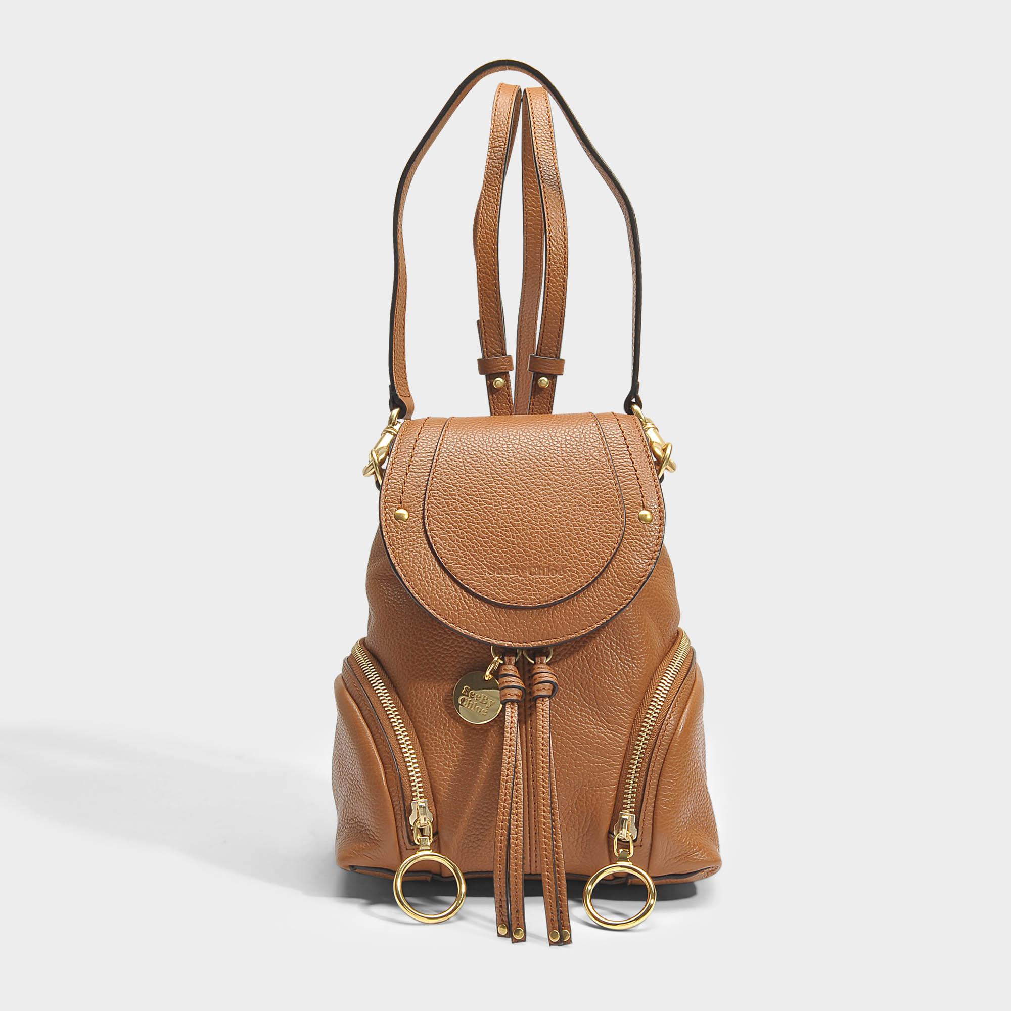 465c25df See By Chloé | Olga Small Backpack In Brown Grained Calfskin