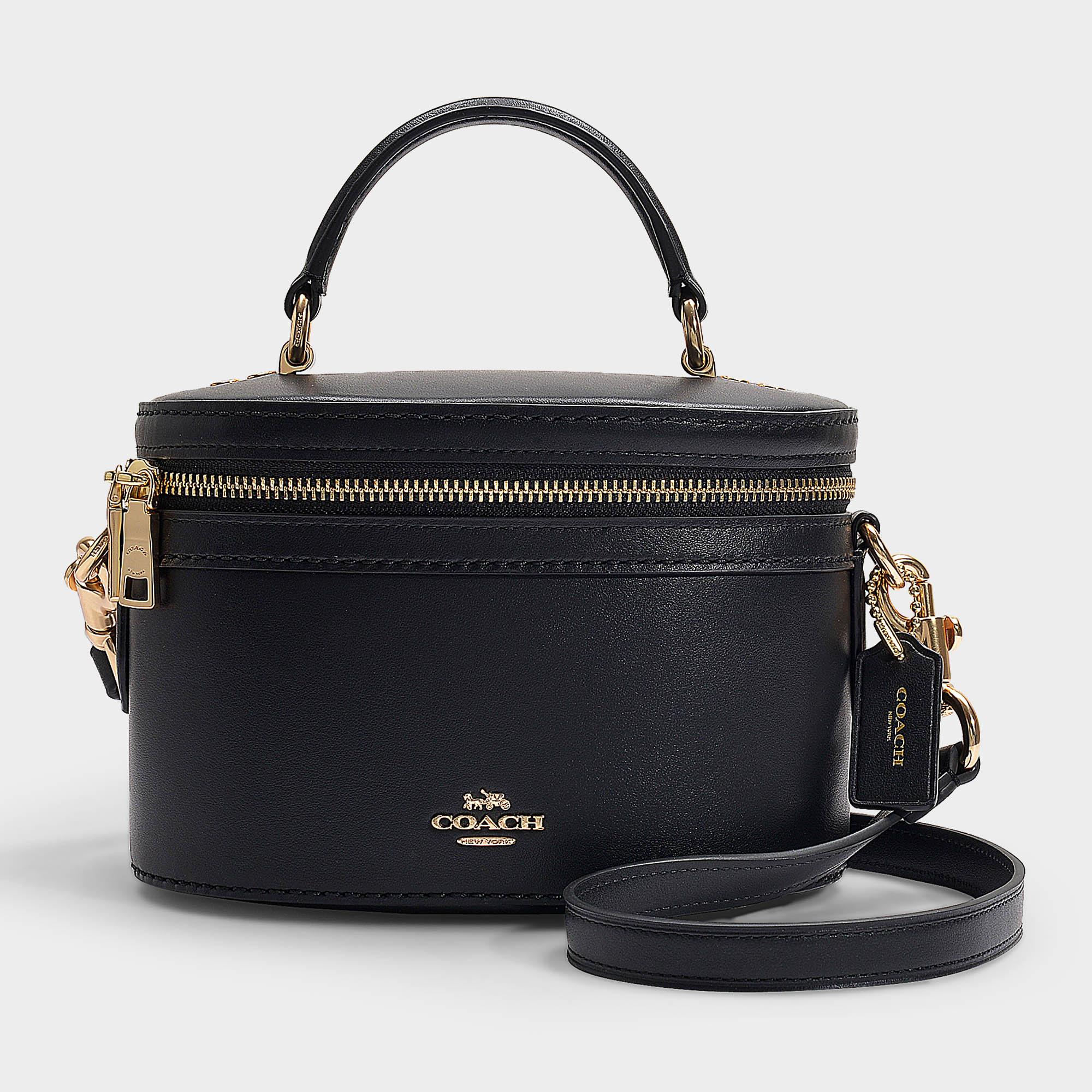 Coach Trail Crossbody Bag In Black Refined Calf Leather