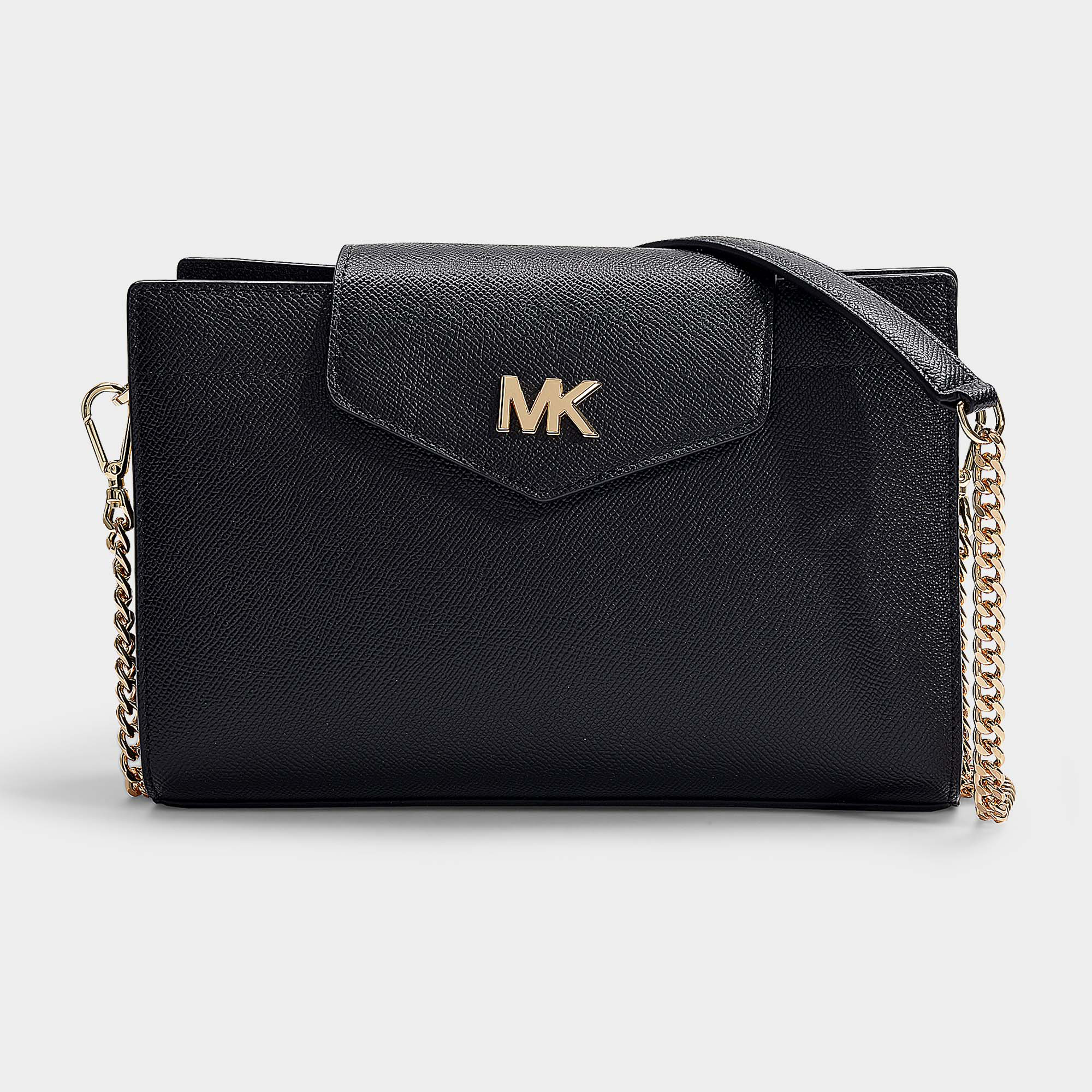 f7cf0bcb26c0ed Michael Michael Kors | Crossbodies Large Convertible Crossbody Clutch Bag  In Black Grained Calfskin