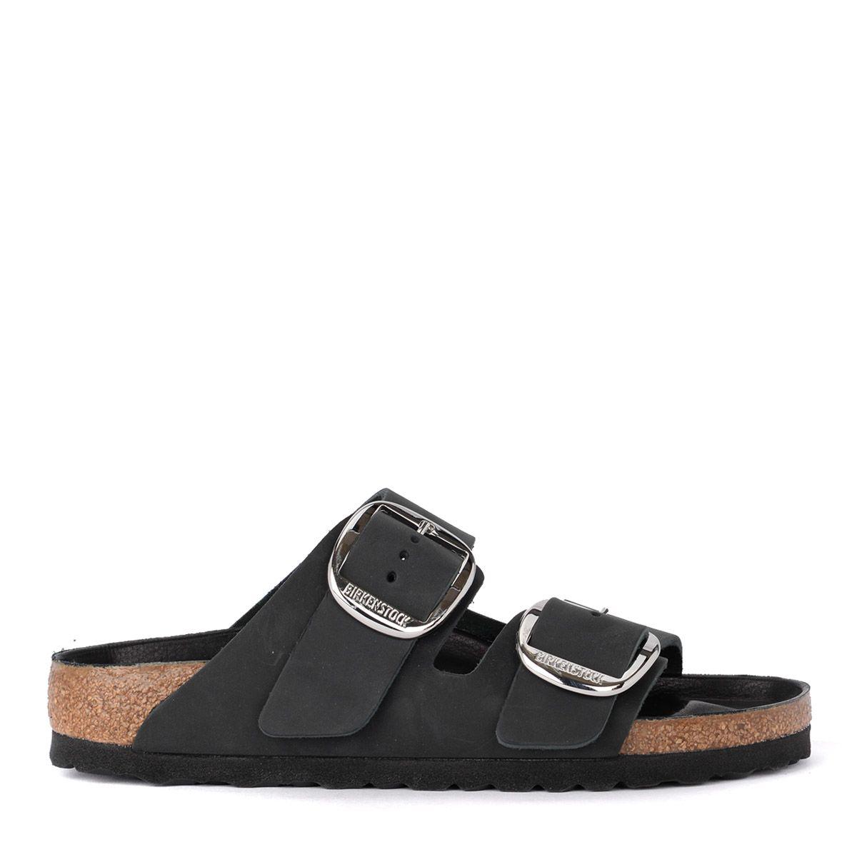 Birkenstock Arizona Big Buckle Black Leather Sandal