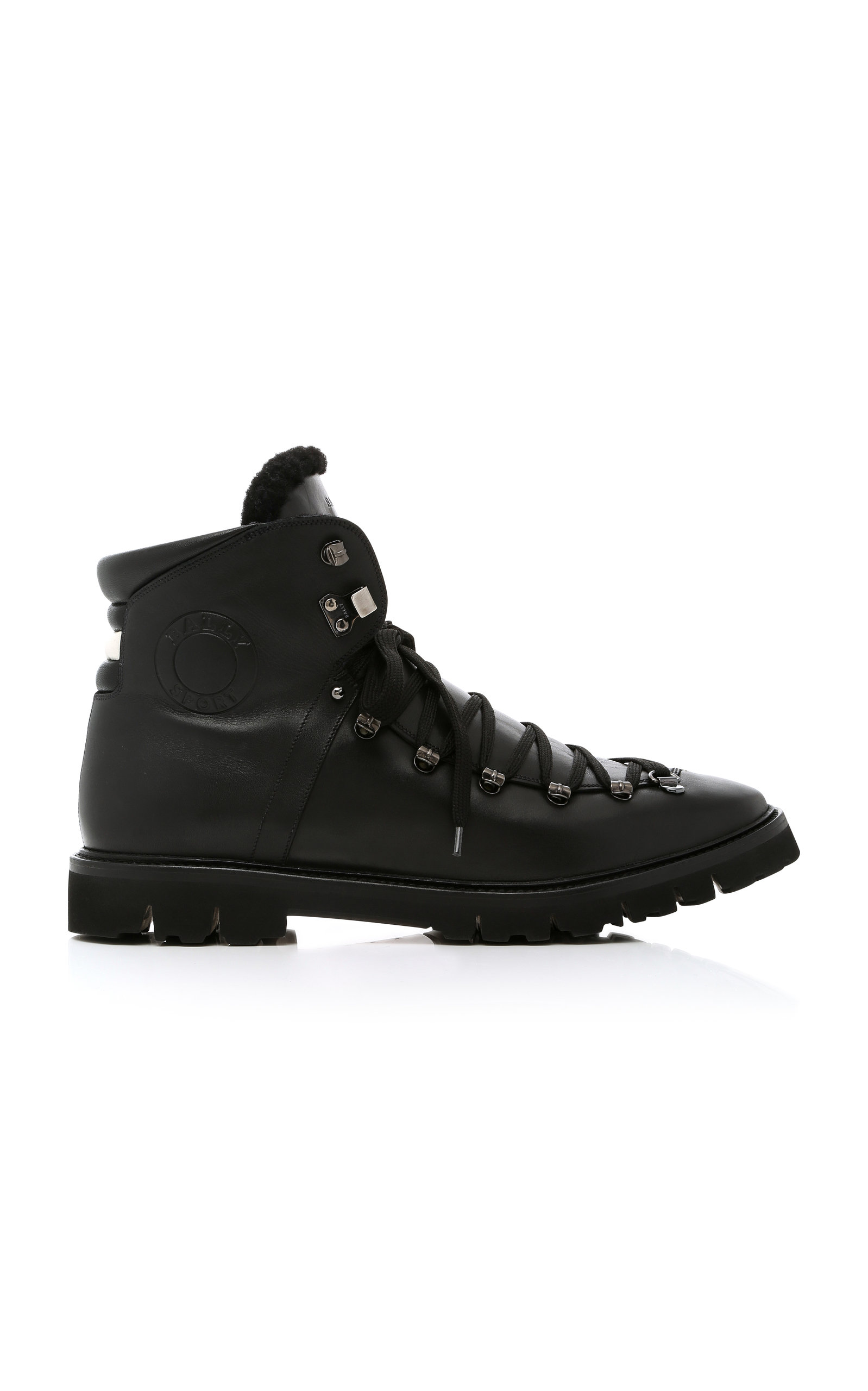 0622a7e6157 Chack Fur-Trimmed Hiking Boots in Black