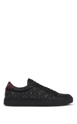 Givenchy Urban Street Quilted Leather Sneakers In Black