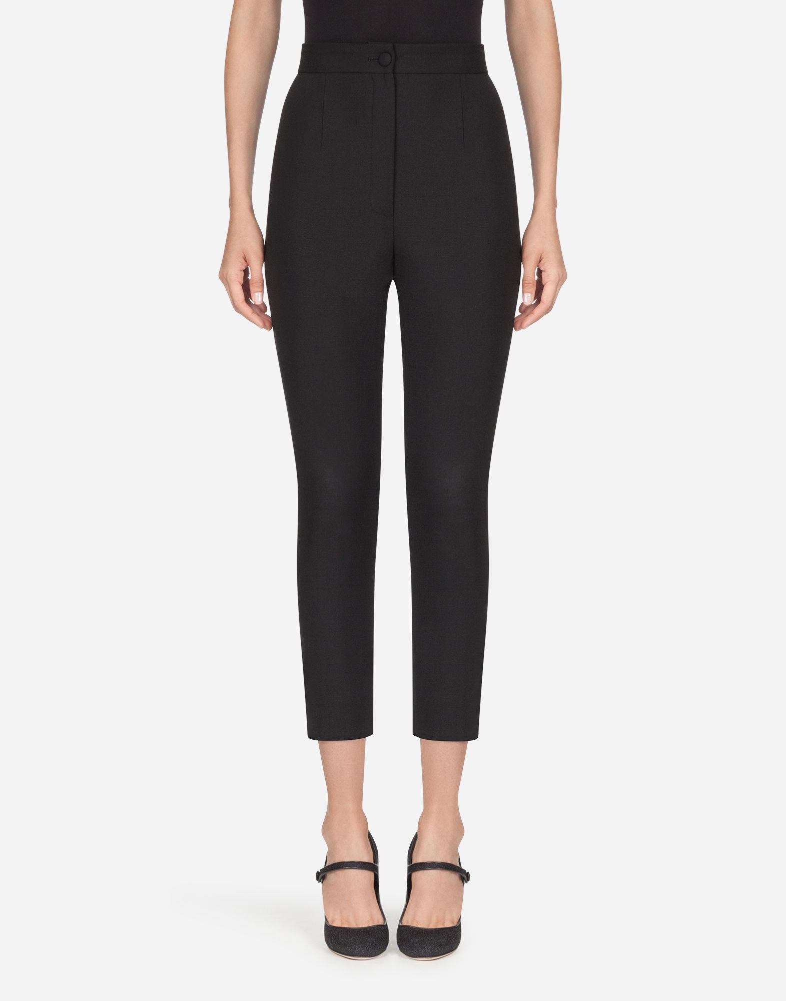 Dolce & Gabbana Wool Trousers In Black